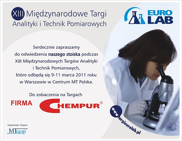 Firma Chempur zaprasza na targi EuroLab